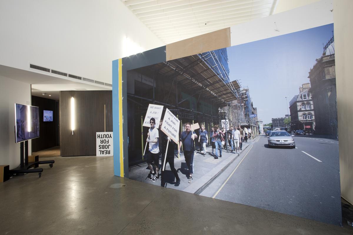 Image: Koki Tanaka, Provisional Studies Action #6, 2016. Open Eye Gallery, Liverpool Biennial 2016. Photo Jerry Hardman-Jones.