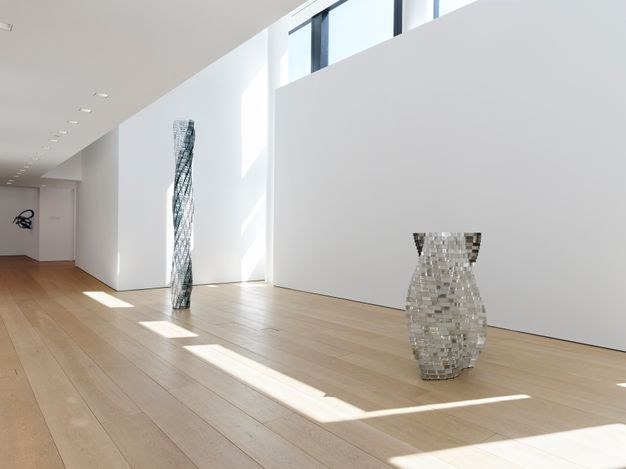 Exhibition view: Shirazeh Houshiary, A Thousand Folds, 501 West 24th Street, New York (8 April–28 May 2021). Courtesy the artist and Lehmann Maupin, New York, Hong Kong, Seoul, and London.Photo: Elisabeth Bernstein.