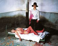 An Inner Dialogue with Frida Kahlo (Dialogue With Myself 2) by Yasumasa Morimura contemporary artwork photography
