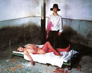 An Inner Dialogue with Frida Kahlo (Dialogue With Myself 2) by Yasumasa Morimura contemporary artwork