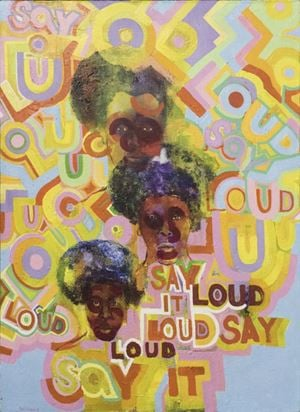Say It Loud by Gerald Williams contemporary artwork