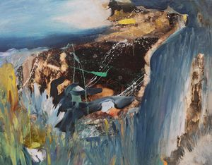 Das Ende der Welt (The End of the World) by David Lehmann contemporary artwork painting