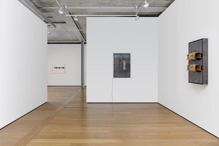 Exhibition view: Jannis Kounellis, Almine Rech, London (29 May—27 July 2019). Courtesy Almine Rech.
