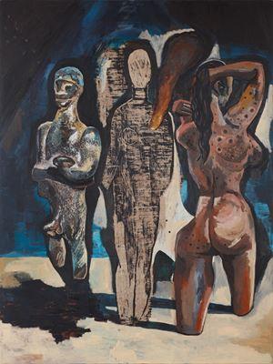 Bathers by Damien Deroubaix contemporary artwork painting
