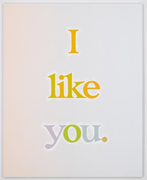 I like you. by Ricci Albenda contemporary artwork