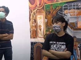 Walkthrough of Gegerboyo Installation for Art Jakarta 2020 with Baik Art.
