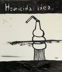 Homicidal - idea by Rae Sim contemporary artwork painting, works on paper, drawing