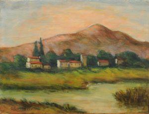 Paesaggio by Carlo Carrà contemporary artwork