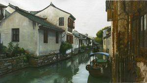 A Canal Town South of the Yangtze (6) by Mi Qiaoming contemporary artwork