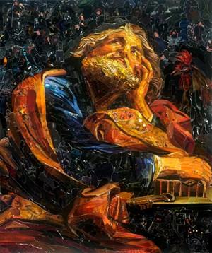 Repro (Saints): Saint Peter, after Girolamo Batoni by Vik Muniz contemporary artwork