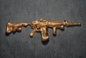 Dari Bumi Untuk Langit (Gold Series no.6) by Rudi Mantofani contemporary artwork