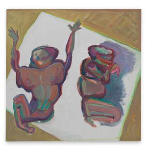 Tragisches Duett / Dramatisches Duett (Tragic Duet / Dramatic Duet) by Maria Lassnig contemporary artwork