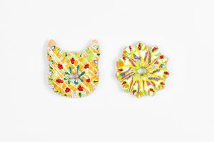 Two Floral Donuts by Jae Yong Kim contemporary artwork sculpture