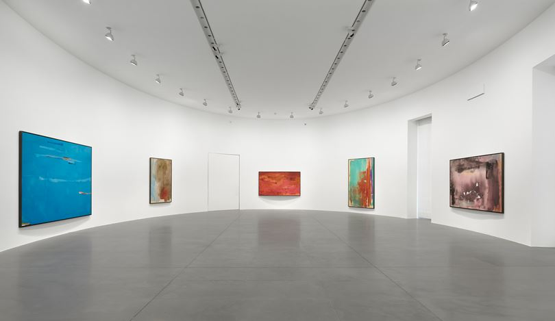 Exhibition view: Helen Frankenthaler, Sea Change: A Decade of Paintings, 1974–1983, Gagosian, Rome (13 March–19 July 2019). © 2019 Helen Frankenthaler Foundation, Inc./Artists Rights Society (ARS), New York. Courtesy Gagosian. Photo: Matteo D'Eletto, M3 Studio.