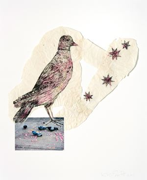 Bird with stars by Kiki Smith contemporary artwork