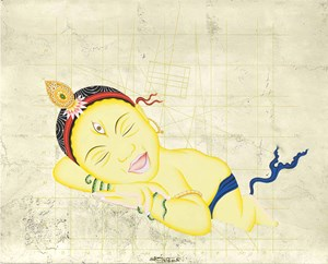 Twinkle Twinkle…Who You Are (Yellow) by Tsherin Sherpa contemporary artwork