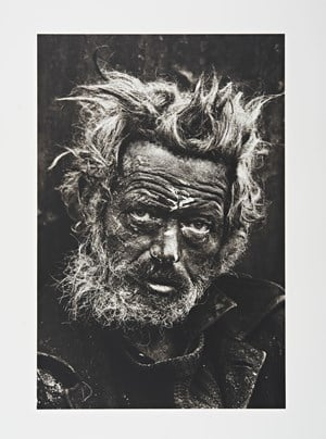 Homeless man, east London by Don McCullin contemporary artwork