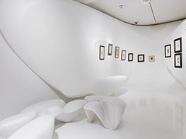 In Zurich, Zaha Hadid's final project, the design for a Kurt Schwitters show, goes on to view