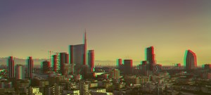 Milano Skyline - Expo City in Hyperstereo by Alberto Fanelli contemporary artwork