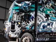 Graffiti-covered Banksy truck to be auctioned