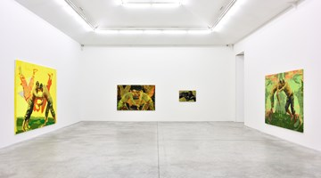Contemporary art exhibition, Claire Tabouret, I am crying because you are not crying at Almine Rech, Rue de Turenne, Paris