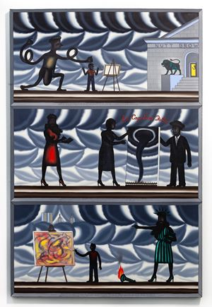 La Cage Aux Folles (Only The Names Are Changed to Protect the Innocent) by Roger Brown contemporary artwork