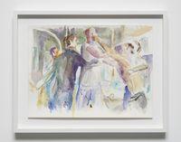 Dans la rue, 17 by John Kelsey contemporary artwork painting