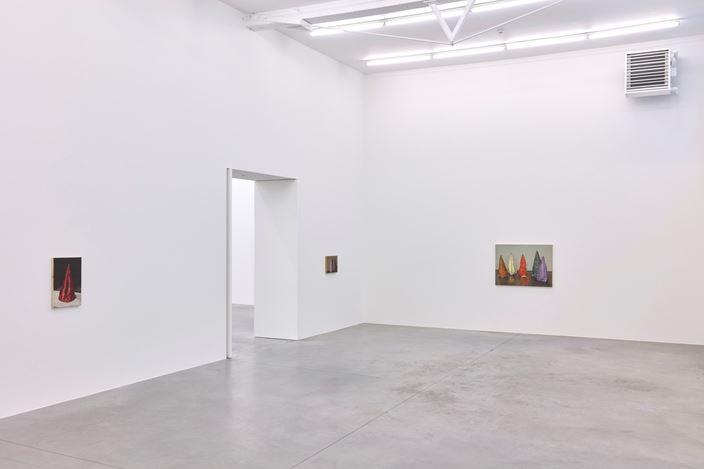Exhibition view: Michaël Borremans,Coloured Cones,Zeno X Gallery, Antwerp (13 January–20 February 2021). Courtesy Zeno X Gallery.