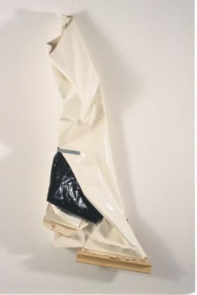 Clutter Bag (cracked white) by Angela De La Cruz contemporary artwork