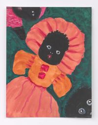 Female Doll with Two Heads by Betye Saar contemporary artwork painting
