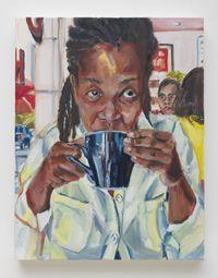 Coffee At Cassell's by Wangari Mathenge contemporary artwork painting