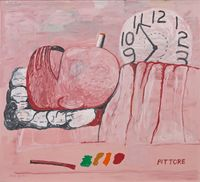 Pittore by Philip Guston contemporary artwork painting