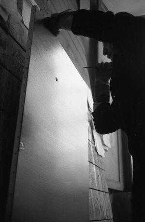 Lucio Fontana, The Sun, Milan (1) by Ugo Mulas contemporary artwork