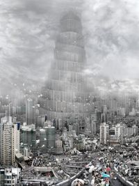 The Tower of Babel - Wind by Du Zhenjun contemporary artwork print