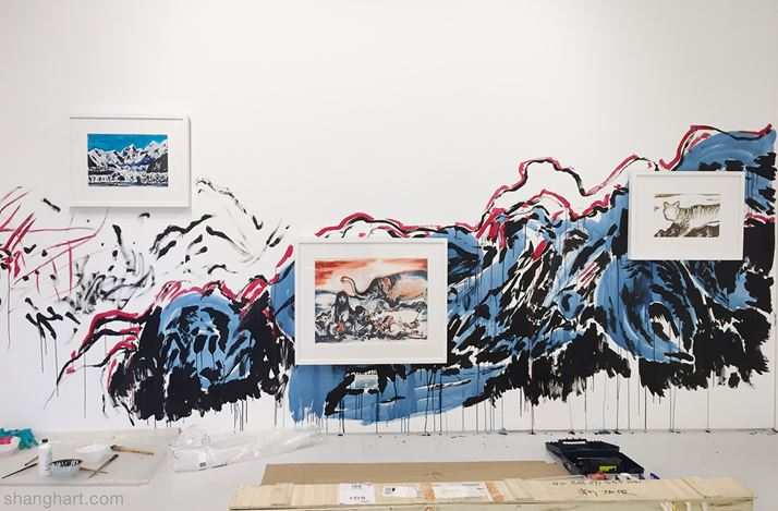 Exhibition view: Sun Xun, Unfounded Prediction, ShanghART, Singapore (1 August–4 October 2015). Courtesy ShanghART.