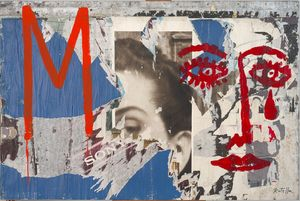 M by Mimmo Rotella contemporary artwork painting, works on paper