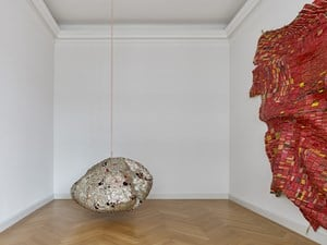 AG + BA by El Anatsui contemporary artwork