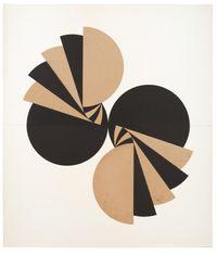 Schichtung mit geteilten Kreisen by Karl-Heinz Adler contemporary artwork works on paper