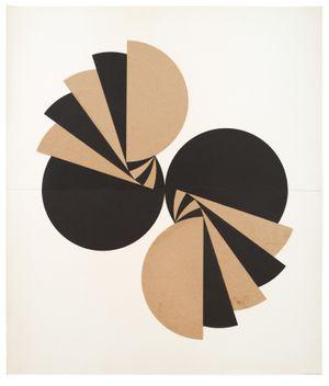 Schichtung mit geteilten Kreisen by Karl-Heinz Adler contemporary artwork