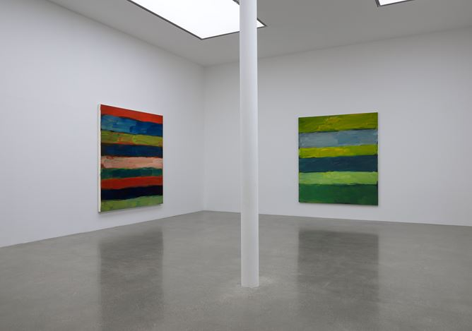 Exhibition view:Sean Scully,Horizon,Timothy Taylor, London (2 November–17 December 2016).© Timothy Taylor.Courtesy the Artist and Timothy Taylor. Photo: Prudence Cumming Associates.Sean Scully,Horizon, 2016, Exhibition view at Timothy Taylor, London. Courtesy the Artist and Timothy Taylor. Photo: Prudence Cumming Associates. © Timothy Taylor.