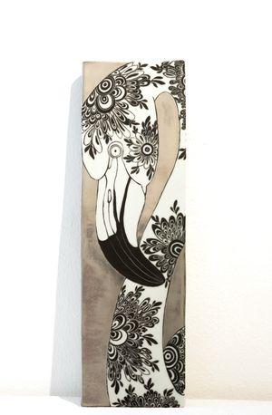Plate_Flamingo by Masako Inoue contemporary artwork sculpture, ceramics