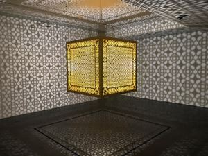 Hidden Diamond - Saffron by Anila Quayyum Agha contemporary artwork