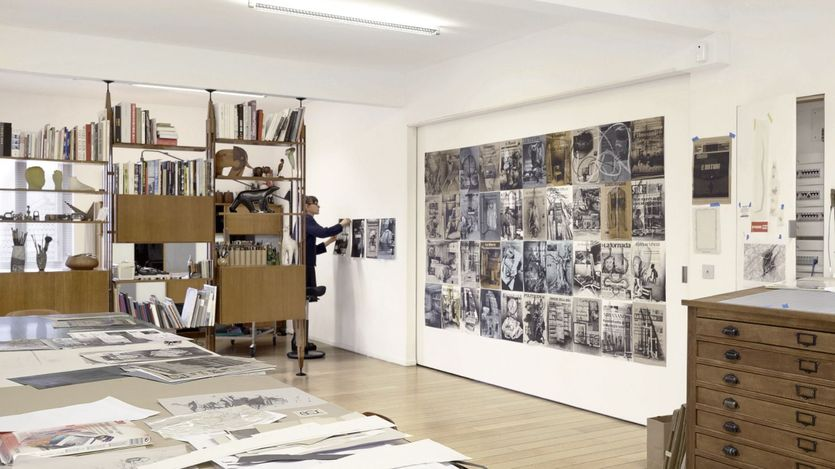 Tatiana Trouvé in her studio, Paris (2021). Artwork ©Tatiana Trouvé. Courtesy Gagosian. Photo: Pushpin Films.