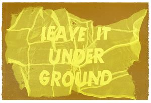 Leave It Under Ground by Raul Walch contemporary artwork painting