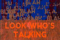 Blah, Blah, Blah / Look Who's Talking by Mel Bochner contemporary artwork painting