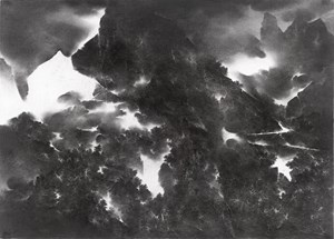 Night in the Mountains 夜山圖 by Cao Xiaoyang contemporary artwork