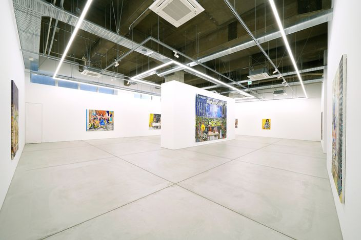 Installation view from The Far Sound of Cities byMarius Bercea.