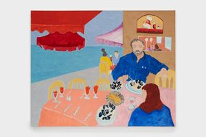 Lunch in St Tropez by March Avery contemporary artwork