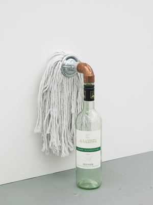 Catachresis ♯84  Head of the mop, elbow of the pipe and neck of the bottle by Amalia Pica contemporary artwork