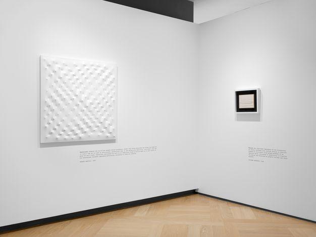 Exhibition view: Group Exhibition,Post-War Italian Art Tales, Mazzoleni, London (12 April–6 June 2021). Courtesy Mazzoleni.